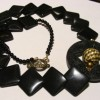 Stylish black statement necklace