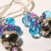 Blue Raspberry Cluster Earrings