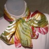 Bright Hued Devore Satin Scarf