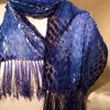 Rayon Velvet on Silk 9×54 Scarf in deep blues