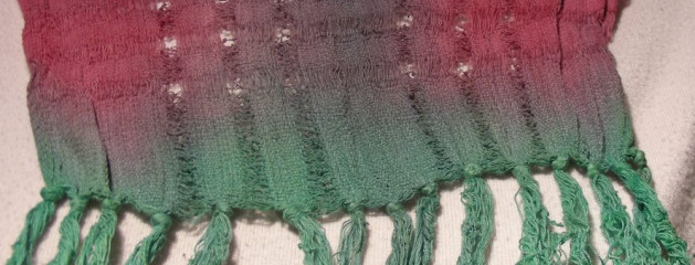 Loosely Woven Cotton Fringed Scarf 11×60