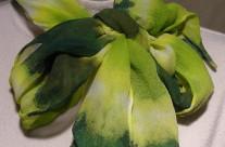 Silk Chiffon Green/Chartreuse Stripe 12×54