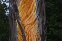 Tiger Silk Scarf Devore Satin on Silk 8×54